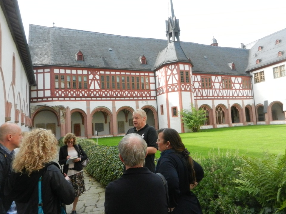 visit of Eberbach Abbey with ombiasy pr 2016 wine tour